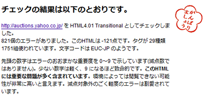 HTMl-lintの結果