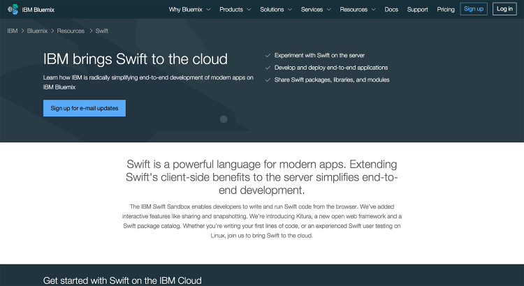 IBM Bluemix   Swift