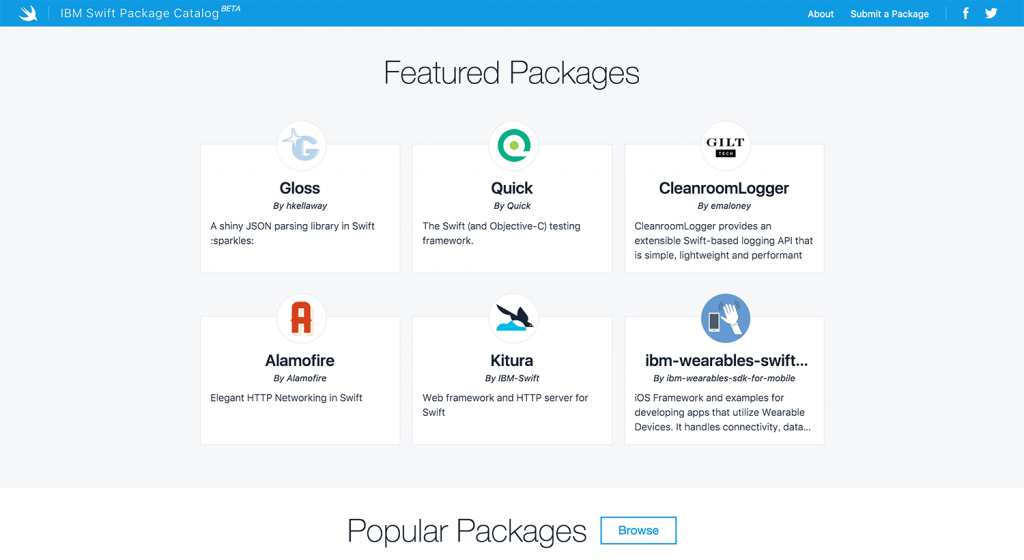 IBM Swift Package Catalog