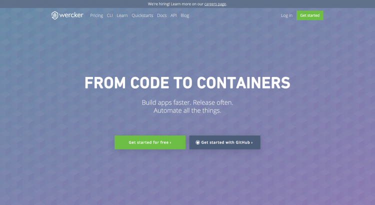 Wercker   From code to containers