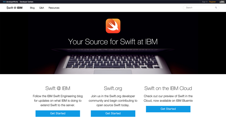 swift IBM dev